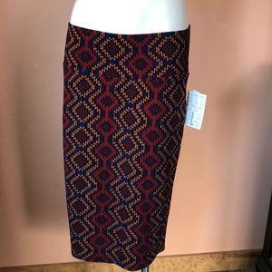 Lularoe NWT Cassie Aztec southwestern skirt sz lg